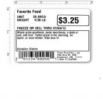 printed example of grocery repack label (LPQ02)