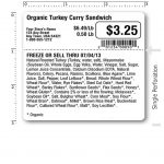 printed example of grocery repack label (LPQ08)